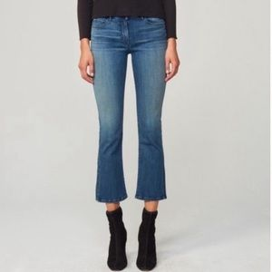 3x1 NYC split bell crop mid rise jeans